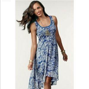 CAbi cobalt blue paisley dress